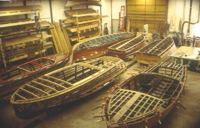 The Danenberg Boatworks shop in Stronach, MI